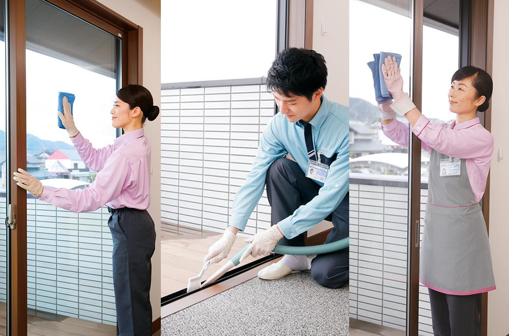 ガラス・サッシ・網戸クリーニング